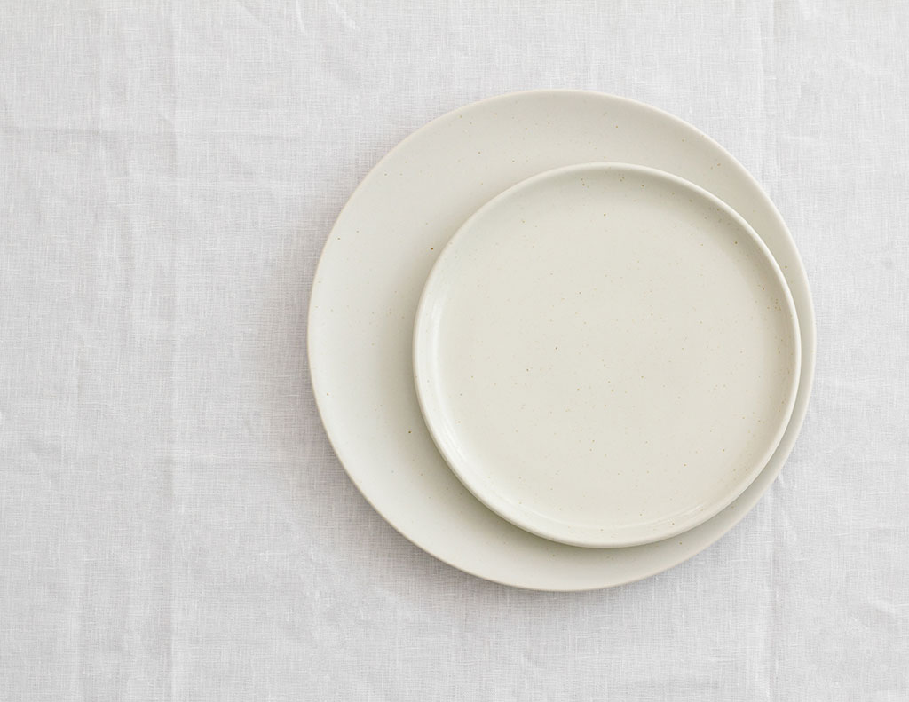White Speckled Crockery