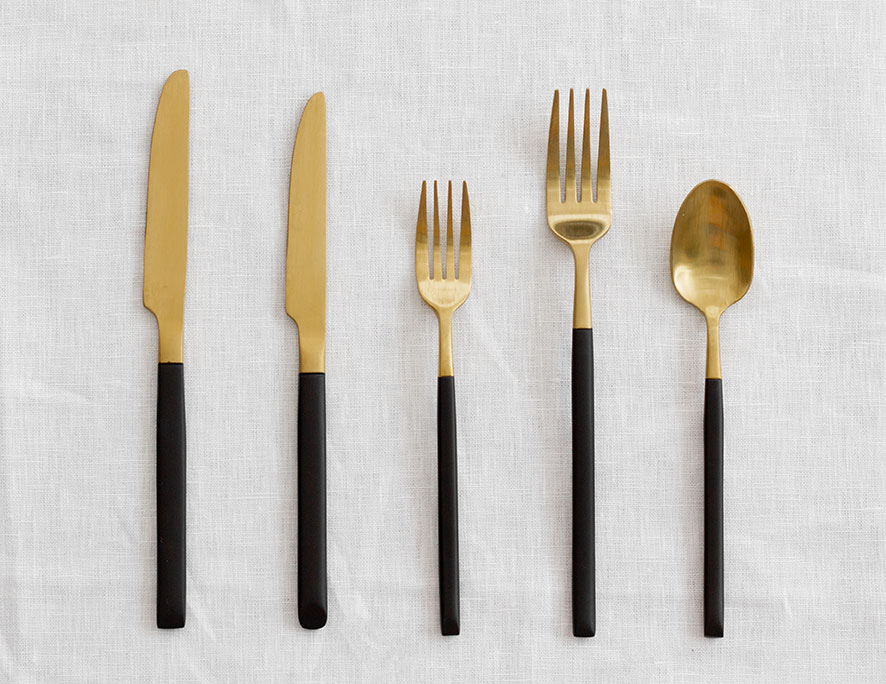 Black and Gold Cutlery