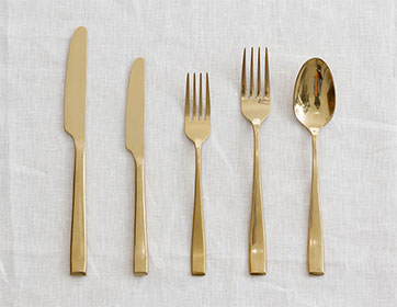 Champagne Gold Cutlery